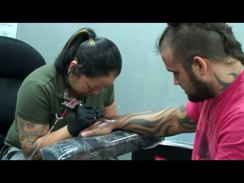 Jesse Neal gets his USS Cole tattoo Video