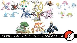 Pokemon 4th Gen / Sinnoh Dex