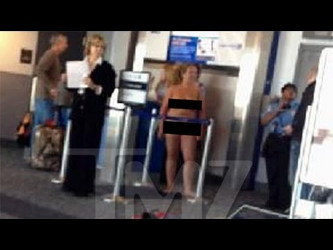 Video: Woman Strips Naked At Denver Airport video