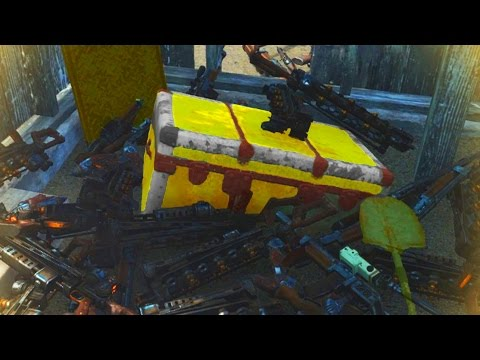 Fallout 4 INSANE LEGENDARY WEAPONS CHEST - Best Legendary Weapon Farming (Fallout 4 Far Harbor DLC)