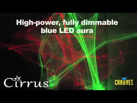 Chauvet Cirrus laser web and LED lighting effect