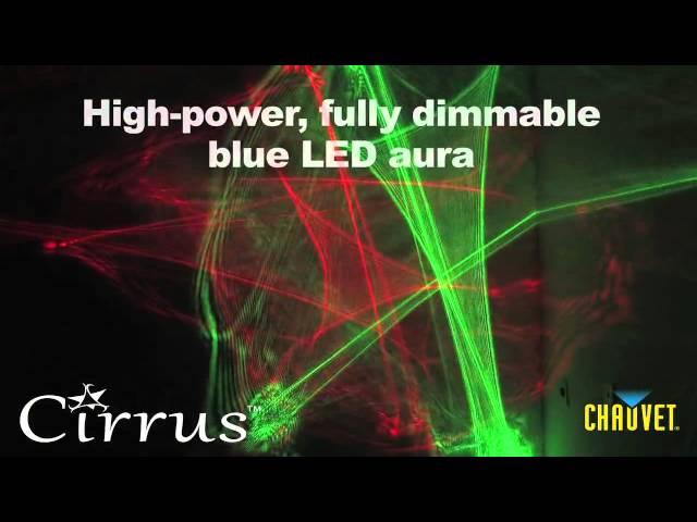 Chauvet Cirrus laser web and LED lighting effect