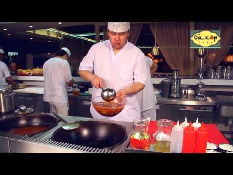 Фирменный Лагман Уйгурский от кафе Бахор (полная версия)