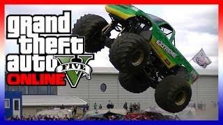 GTA 5 Funny Moments - Monster Truck Races, MONSTER JUMPS, SUPER FAILS! Ep 2 (GTA 5)