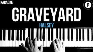 Halsey - Graveyard Karaoke Slower Acoustic Piano Instrumental Lyrics