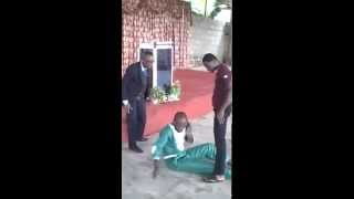 African Guy Answers His Phone During Pastor's Anointment!