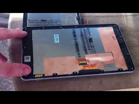 Google Nexus 7 Screen Repair (removing plastic bezel) Digitizer LCD Replacement ASUS Android Tablet