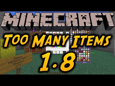 Minecraft Mods - TOO MANY ITEMS (Updated for 1.8) - Non Forge Version + Download and Overview [HD]
