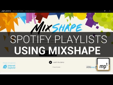 Spotify Microsoft and Echonest - enhance your playlist with Mixshape