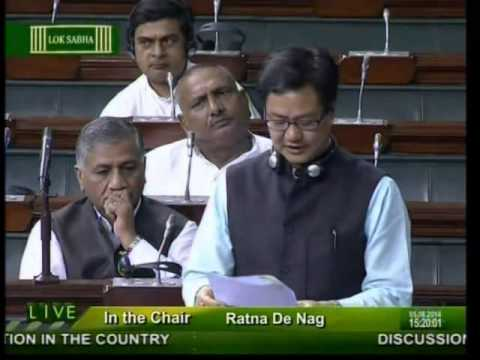 Lok Sabha: Flood & drought situation in the country: Shri Kiren Rijiju: 05.08.2014