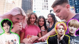 Asking NYC Strangers to Pick the Most Handsome BTS Member?!