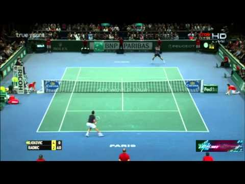 Novak Djokovic vs Milos Raonic - Paris Masters 2014 Final