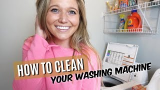 HOW TO CLEAN YOUR WASHING MACHINE! (QUICK & EASY)
