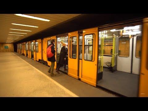 Hungary, Budapest, Metro ride from Széchenyi fürdő to Hősök tere