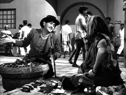 Raj Kapoor Proposes A Funny Deal To Fruit Seller - Shree 420 Most viewed Scenes - Lalita Pawar