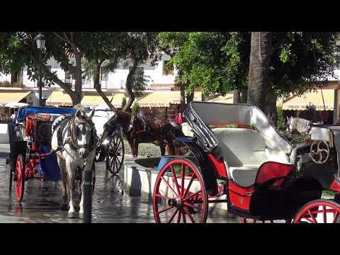Mijas Pueblo, Costa Del Sol, Spain October 2017 Filmed in 4K UHD