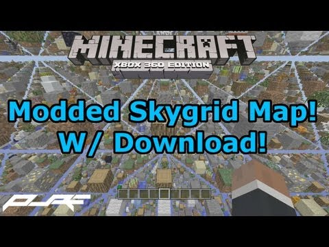 Minecraft Xbox 360: Modded SkyGrid Map W/ Download!