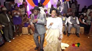 Grandpa Dancing #Azonto in wedding reception ( #Ghana Party)