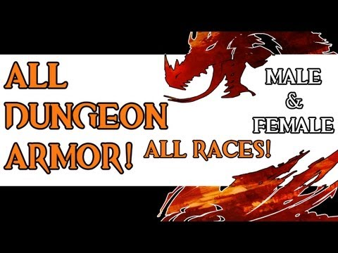 Guild Wars 2 - All Dungeon Armor Sets All Races (Male/Female) HD