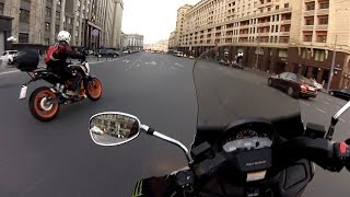 Small Ride on Suzuki Skywave, Moscow