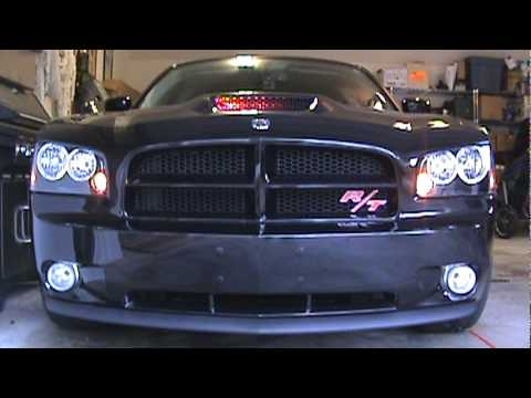 Knight Rider Hood Scoop Lights On Dodge Charger Youtube