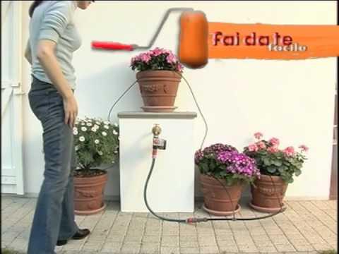Irrigare le piante in vaso bricoportale youtube for Sistemi di irrigazione a goccia per vasi