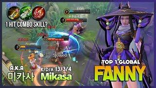 Brutal Burst Damage Skylark by Legend of Fanny! 미카사 a.k.a Mikasa Top 1 Global Fanny ~ Mobile Legends