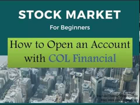How to Open an Account with COL Financial