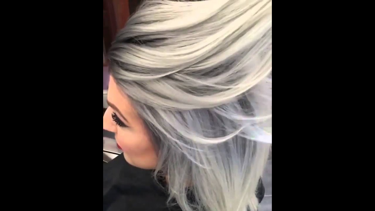 Тонированные волосы пепельным цветом