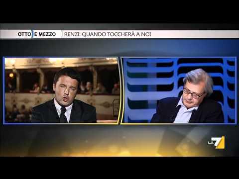 VITTORIO SGARBI E MATTEO RENZI - Otto e mezzo 04/04/12