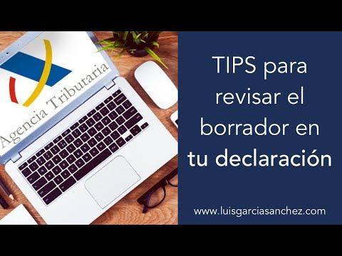 TIPS para revisar el borrador de la RENTA con eficacia