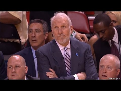 Gregg Popovich's Hilarious Reaction to Mario Chalmers Halfcourt Buzzer-Beater