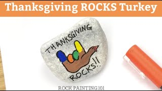 How to paint a fun Thanksgiving rock!