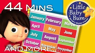 Months Of The Year Song   Plus Lots More Nursery Rhymes   44 Minutes Compilation from LittleBabyBum!