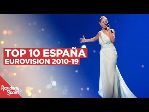 TOP 10 España Eurovision | 2010 - 2019