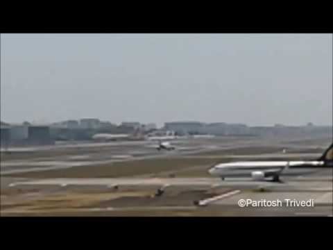 INDIGO AIRLINES AIRBUS A320 TAKEOFF FROM MUMBAI AIRPORT