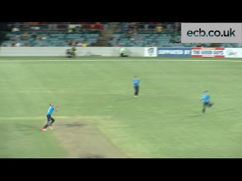 Stuart Broad takes great catch off his own bowling - England v Prime Minister's XI