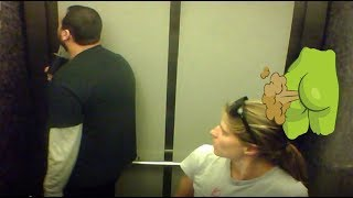 WET Fart Prank!Feat. The Elevator farts in Elevator, Farting in the library, Mad security guy ep.41