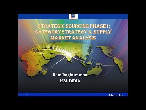 Webinar on Strategic Sourcing Phase 1: Category Strategy & Supply Market Analysis