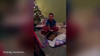 Freaking Out  Kid reaction to wrong Christmas gift PRANK !!