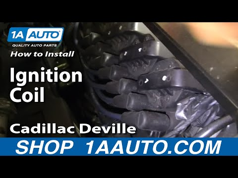 How To Install Replace Ignition Coil 96-99 Cadillac Deville Northstar 4.6L V8 1AAuto.com