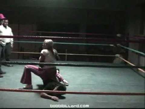 Bobbi Billard: Wrestling Practice with Rey Misterio Sr. Video