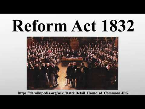The impact of the 1832 Reform Act