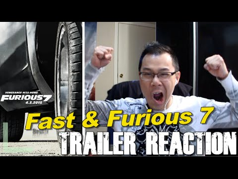 Reaction to Fast and Furious 7 Trailer #1