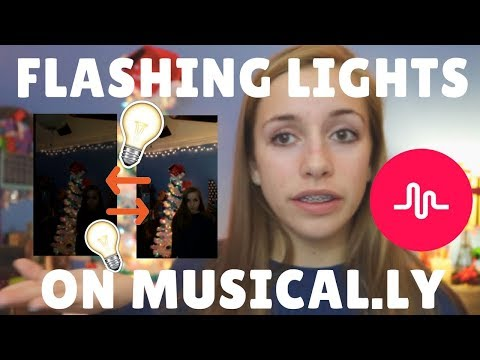 How to do FLASHING LIGHT effects on musical.ly's!