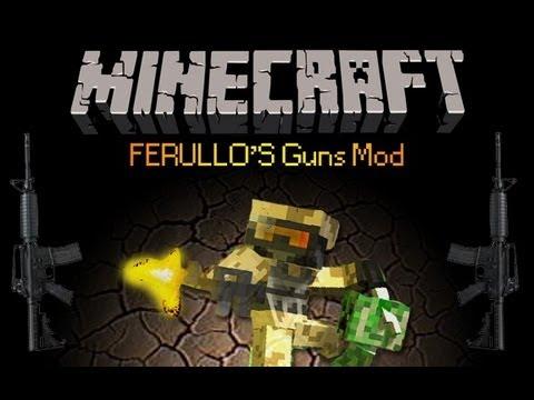 Minecraft 1.5.2 - Como descargar e instalar FERULLO'S GUNS MOD[Mod de armas]!!