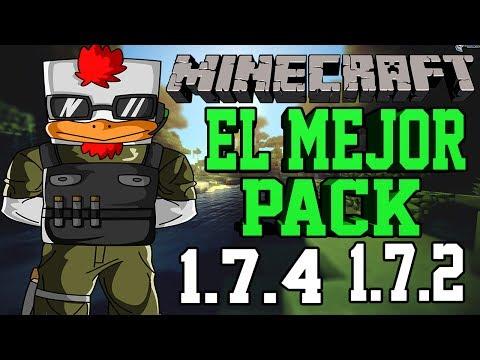 El Mejor Pack de texturas para Minecraft 1.7.2/1.7.4 (SIN LAG) version 1
