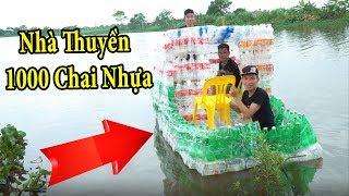 PHD   Nhà Thuyền Được Làm Bằng 1000 Chai Nhựa   Boat Houses Are Made Of 1000 Plastic Bottles