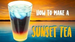 How to make the MOST BEAUTIFUL TEA EVER   Sunset Tea