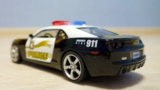 Police Chevrolet Camaro Action video for kids | Toy cars driving and drifting